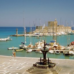 Greek islands such as Rhodes are right off the Turkish coast and are easily reached by ferry.